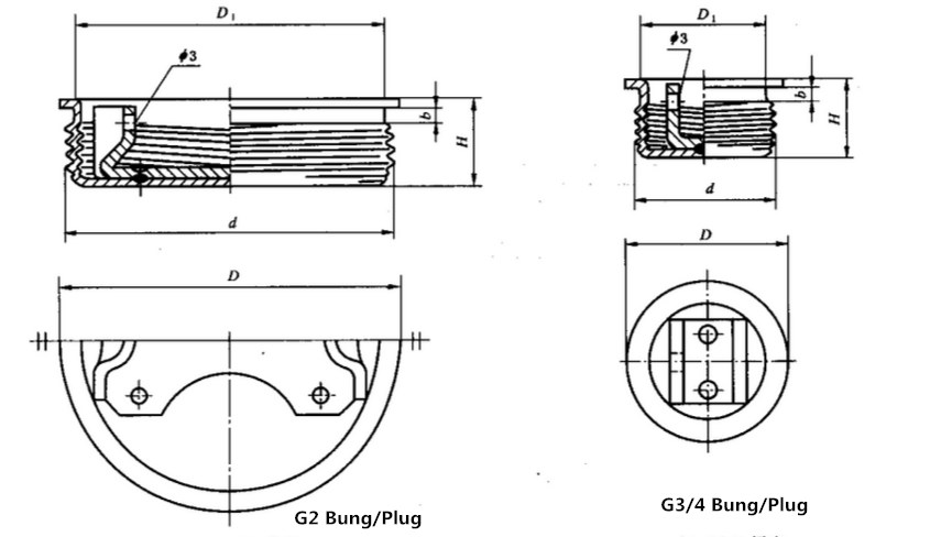 DRUM BUNG DRUM PLUG DRAWING QIMING PACKAGING