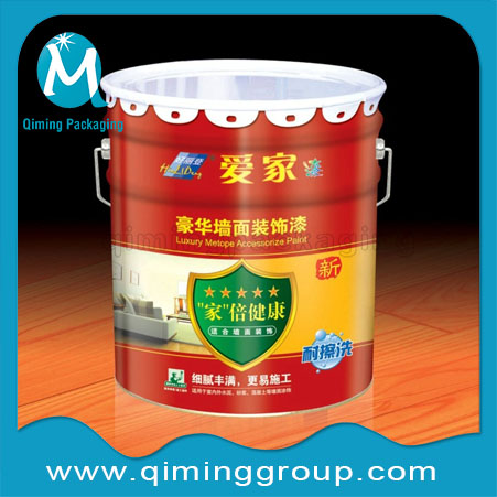Paint Emulsion Lubricant Pail Bucket With Lug Lids-Qiming Packaging