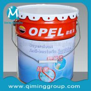 Painted Galvanized Metal Tin Buckets Pails Lug Lids Emulsion Lubricant Pail Bucket