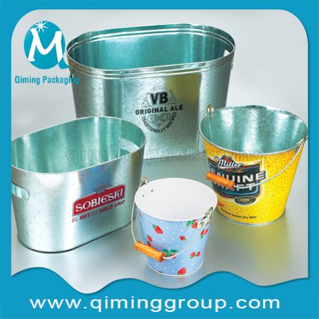 Round Tin Buckets Water Buckets Ice Buckets