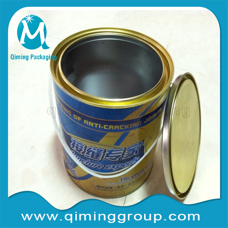 Round Tin Cans Small Tinplate Pails With Plastic Handle --Qiming Packaging