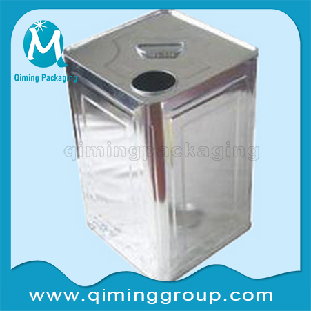 Square Tinplate Cans For Chemical Industry Qiming Packaging