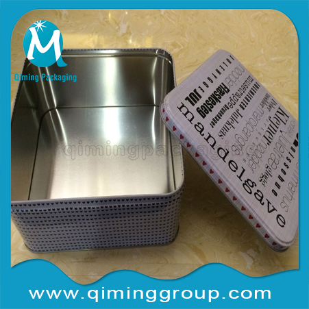 Square Tinplate Cans For Food Industry Qiming Packaging