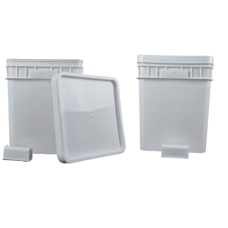 White Square & Specialty Plastic Buckets Pails
