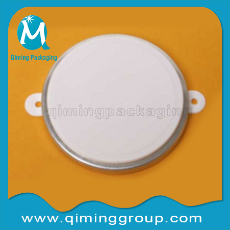 plastic cap seals wirh metal ring --Qiming Packaging