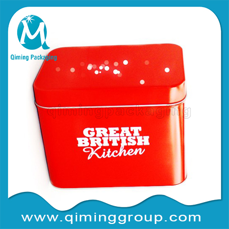 rectangle tin cans for rice tea coffee FDA standard