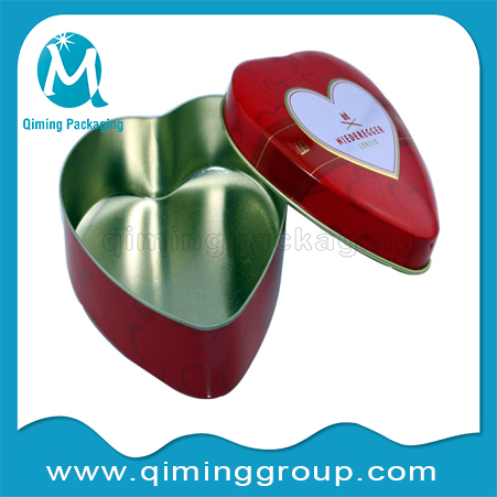 heart shape irregular lids for tin cans gift cans tinplate caps covers