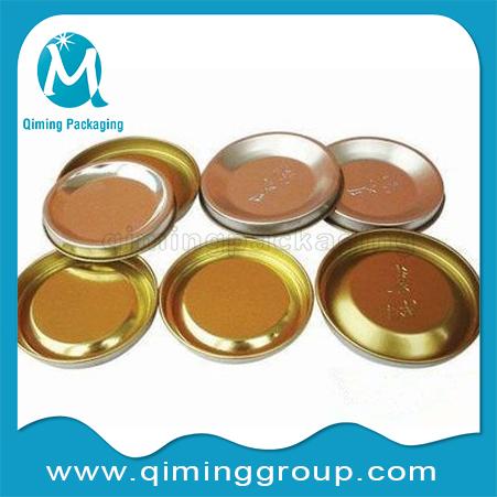 Embossed penny lever lids top lids