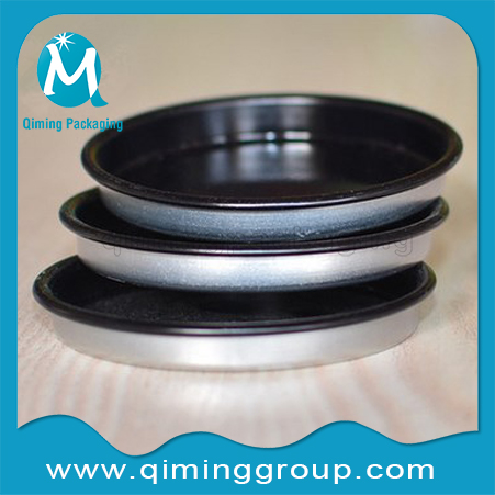 matte black penny lever lids top lids bottom lids Qiming Packaging