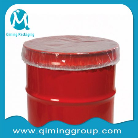 plastic transparent clear Drum Plastic Covers With Elastic Locking