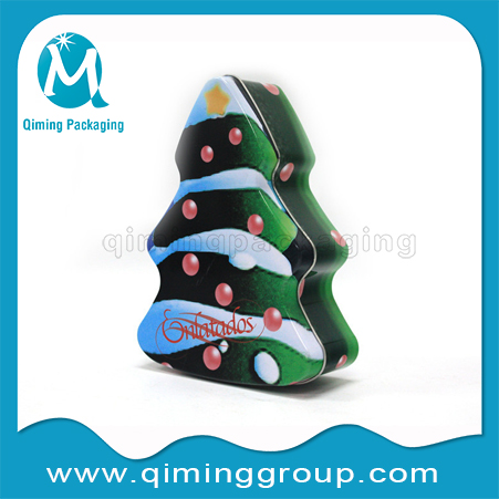 Christmas Tree Christmas Gift Tin Boxes -Qiming Packaging