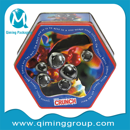 Christmas Gift Tin Boxes-hexagon -Qiming Packaging