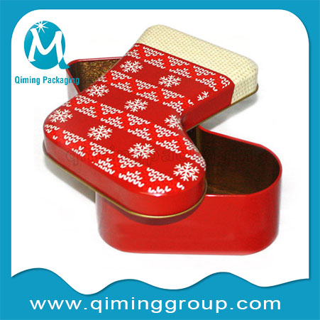 Christmas Stocking Christmas Gift Tin Boxes -Qiming Packaging