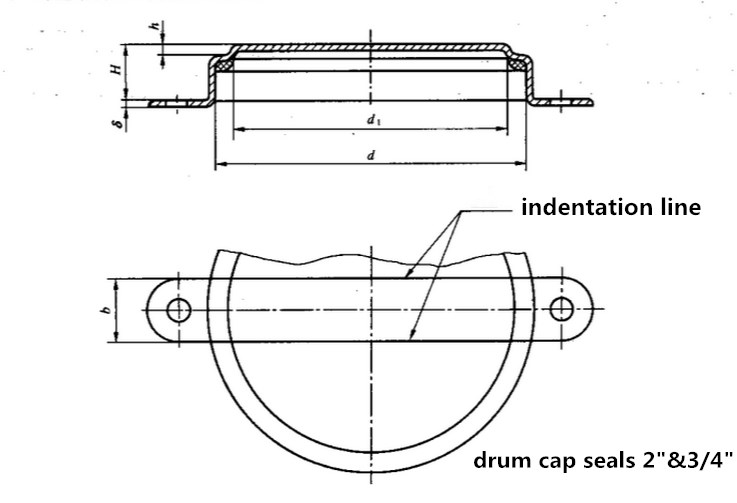Drum CAP SEALS Drawing from Qiming packaging
