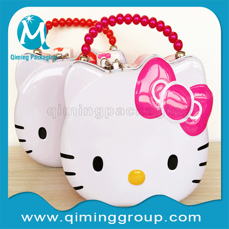 Hello-kitty Tinplate Coin Bank Money Saving Box--Qiming Packaging