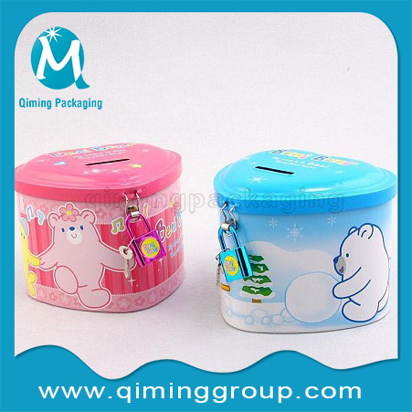 Tinplate Coin Bank Money Saving Box--Qiming Packaging