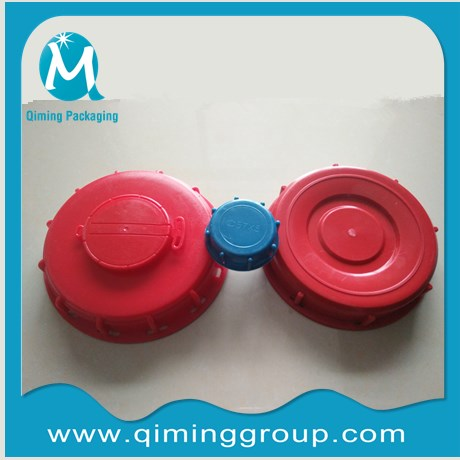 IBC LIDS 9 INCH 6 INCH VENTEED CLOSURES RED