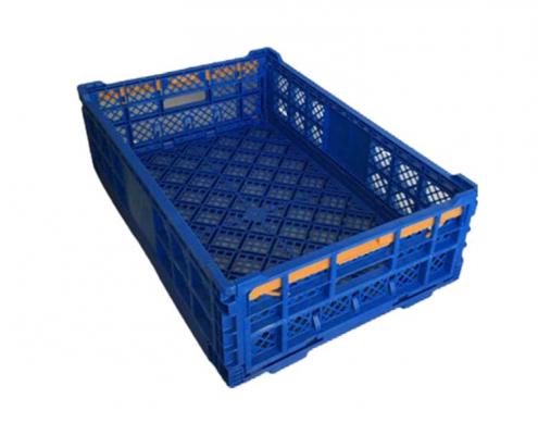 Blue Plastic Folding Turnover Egg Crates