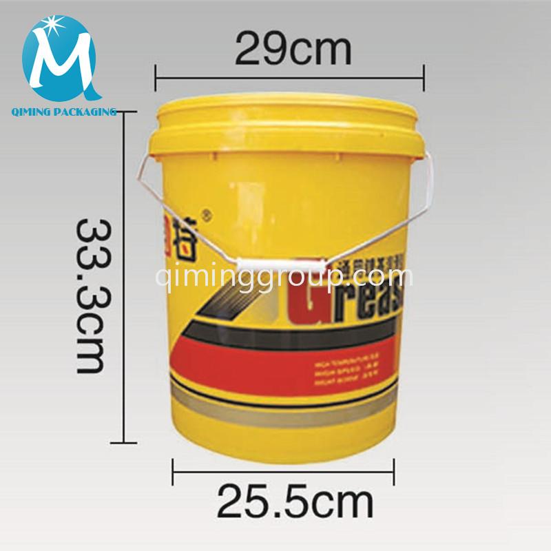 16L plastic round bucket pail