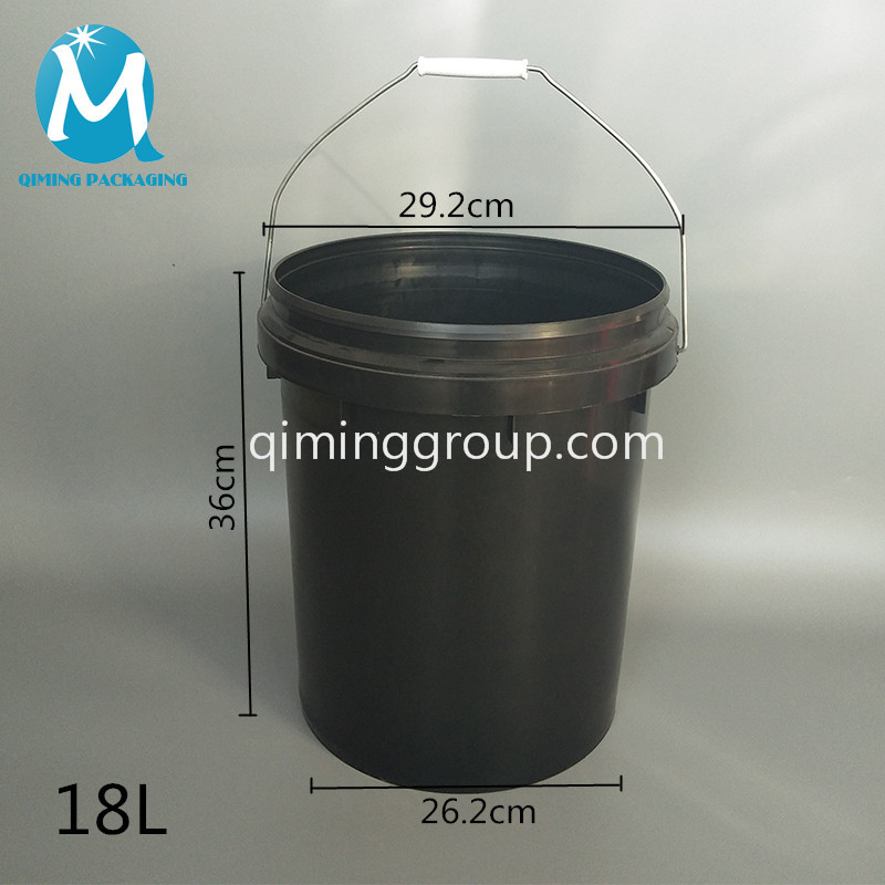 18L plastic round bucket pail