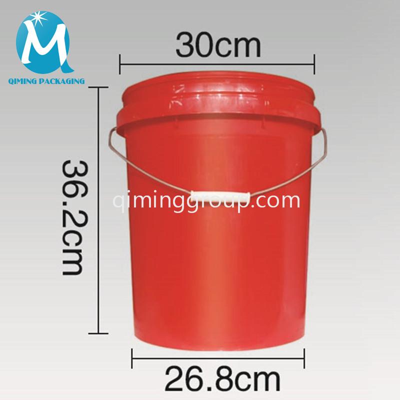 19L plastic round bucket