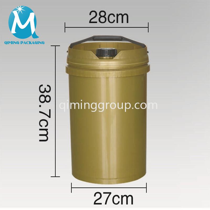 20L plastic round bucket pail European style