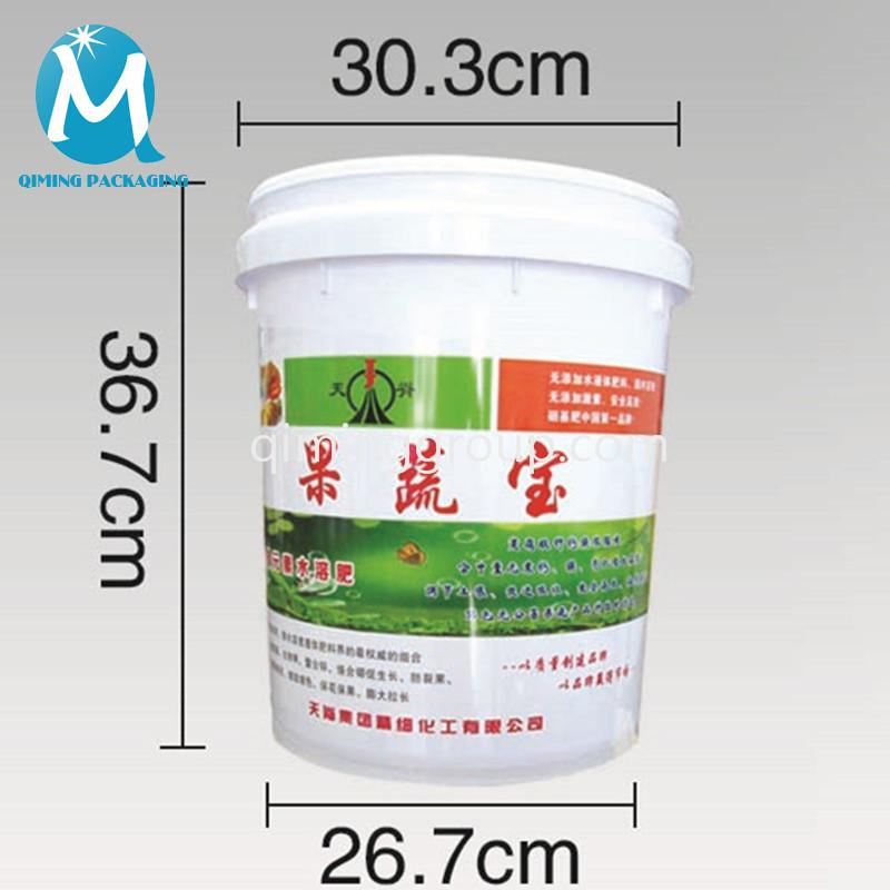 20L plastic round bucket pail