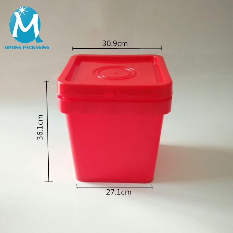 25L plastic square bucket pail