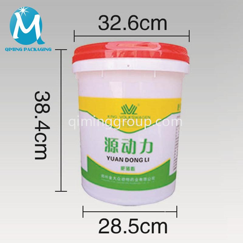 25 L round bucket pail