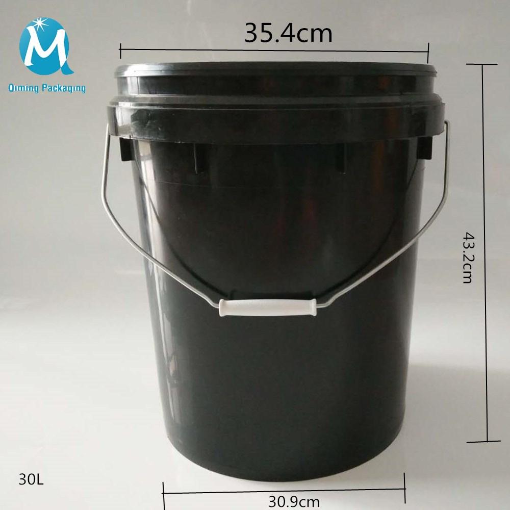 30L round plastic bucket pail