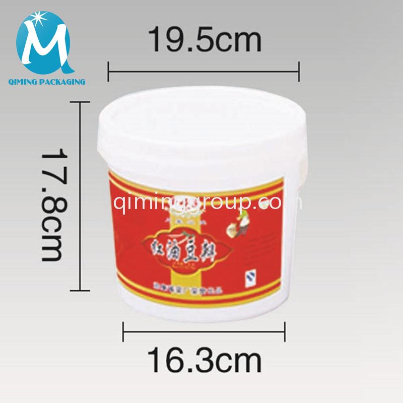 4L round bucket pail