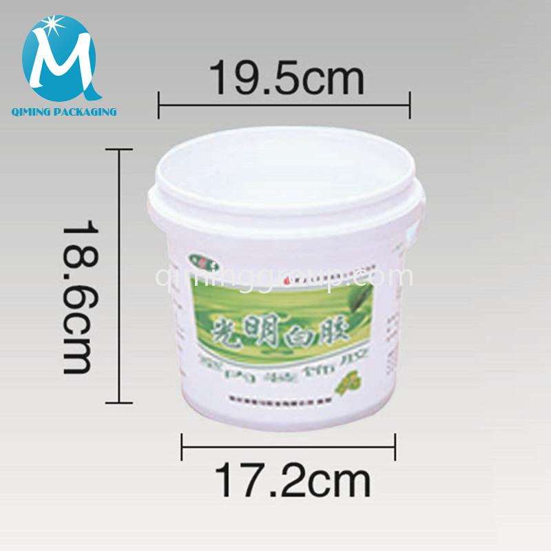 4L plastic round bucket pail