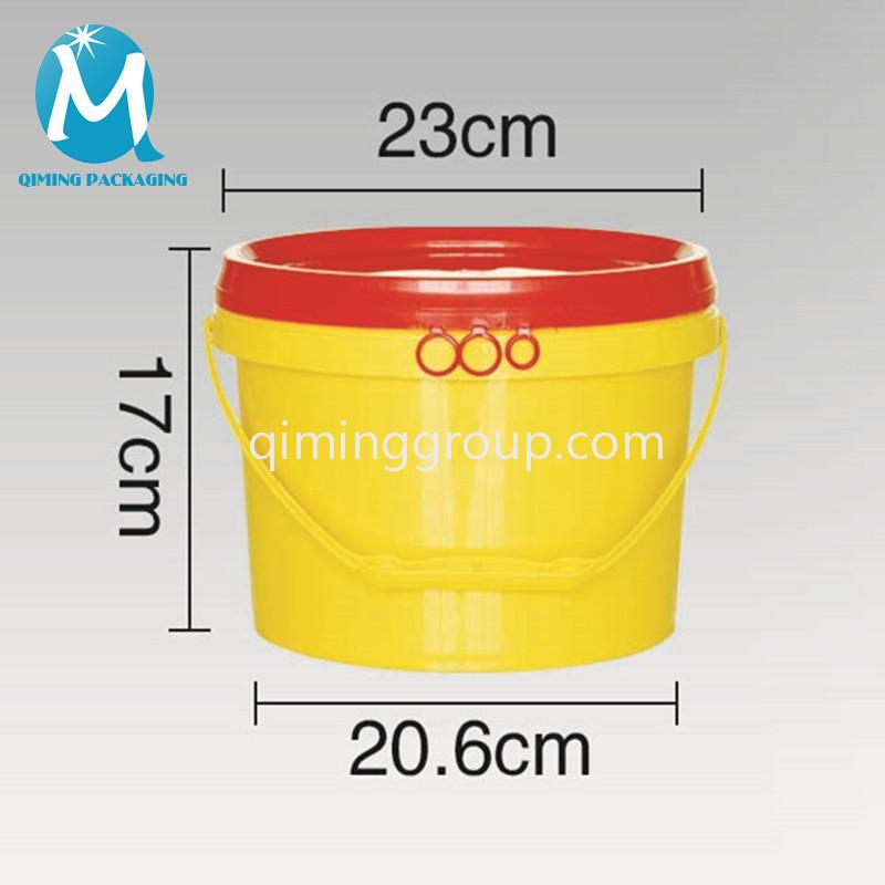 plastic 5L round bucket pail