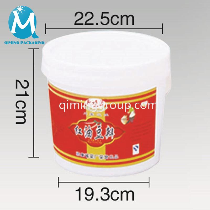 6L plastic round bucket pail