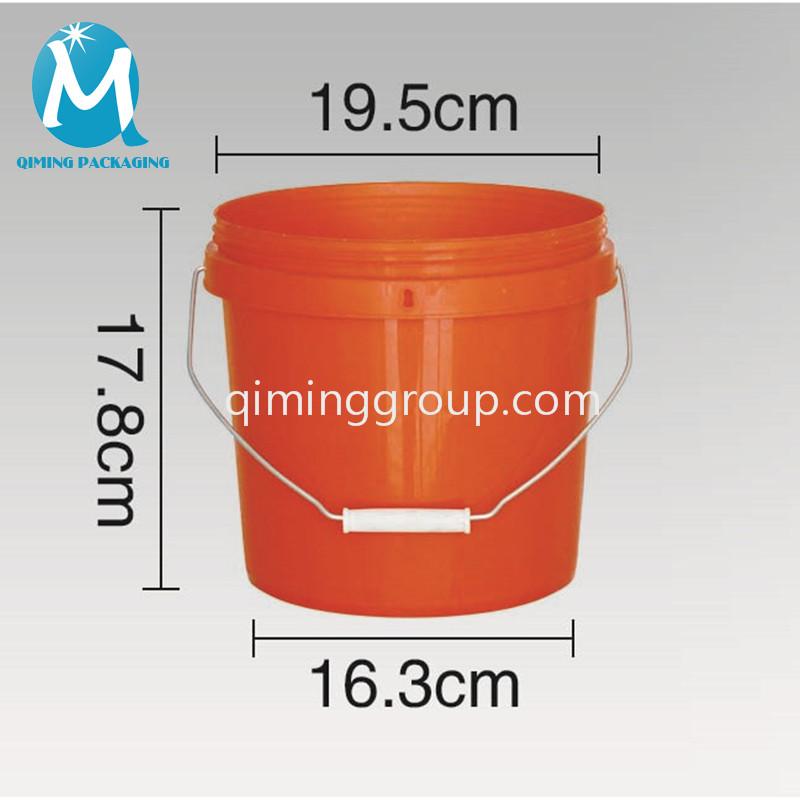 8L plastic round bucket pail