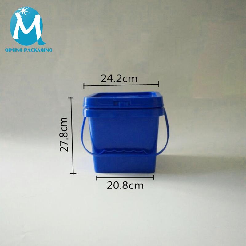 10L Square Plastic Pails Buckets