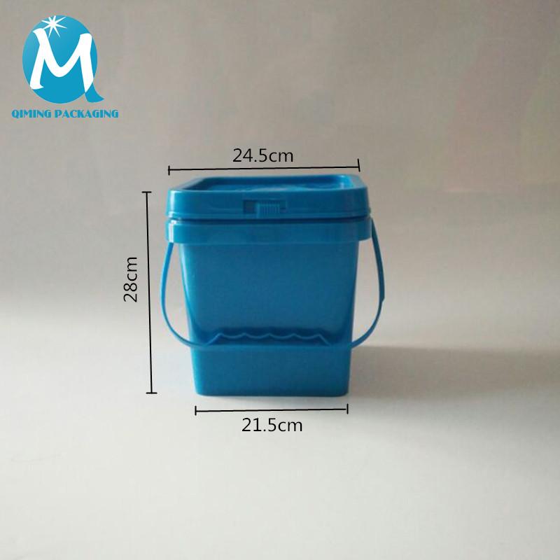 12L Square Plastic Pails Buckets