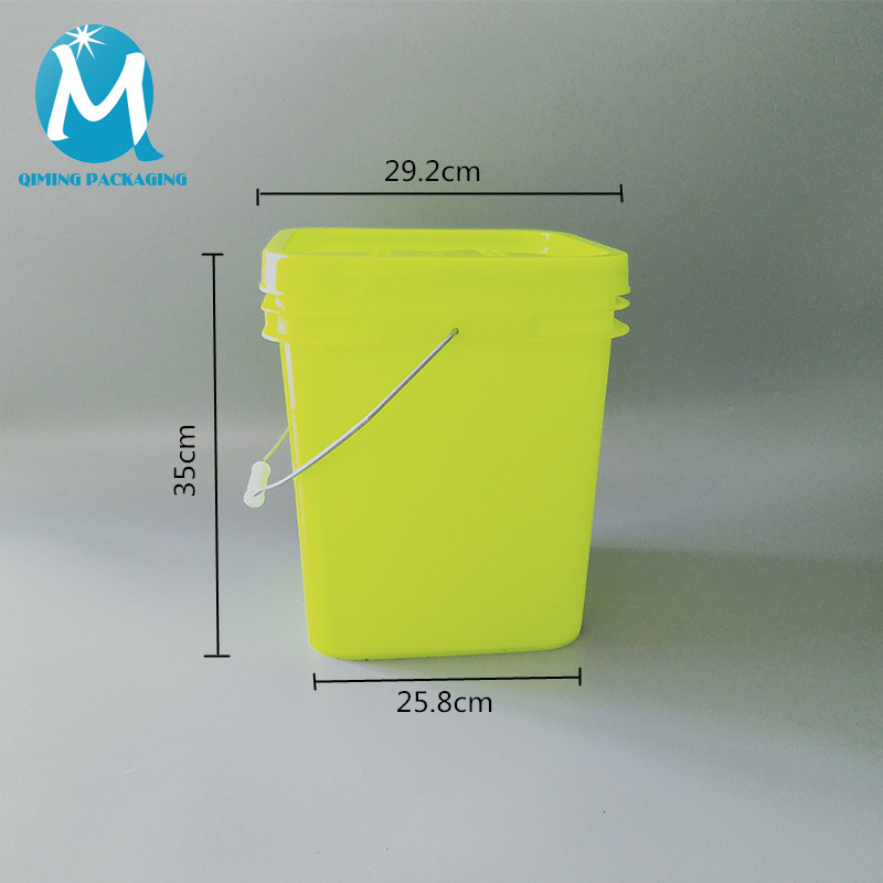 18L plastic square bucket