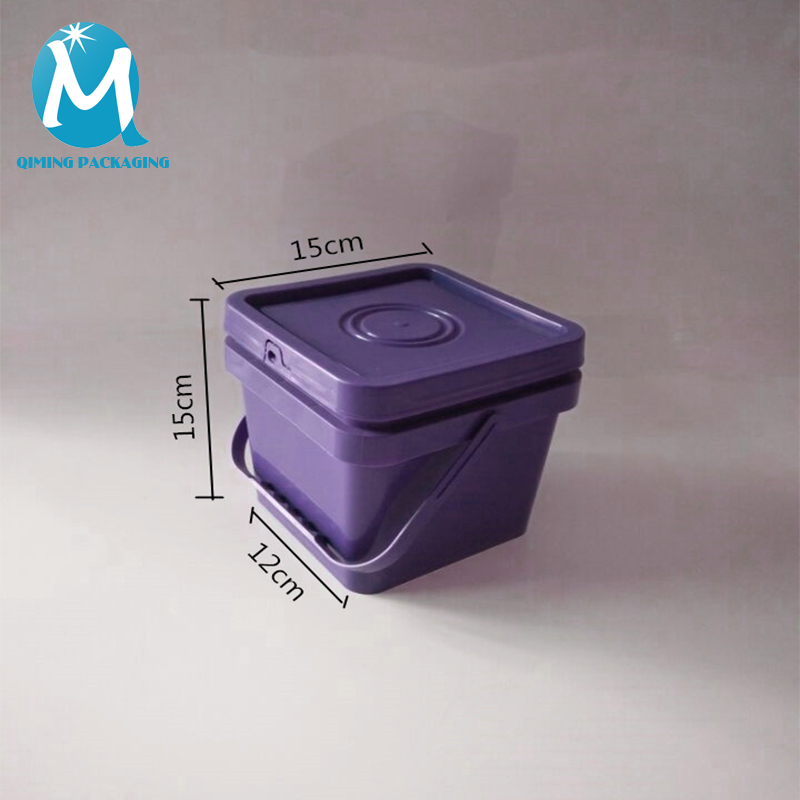 2L plastic square bucket