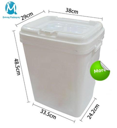 30L Square Plastic Pails Buckets