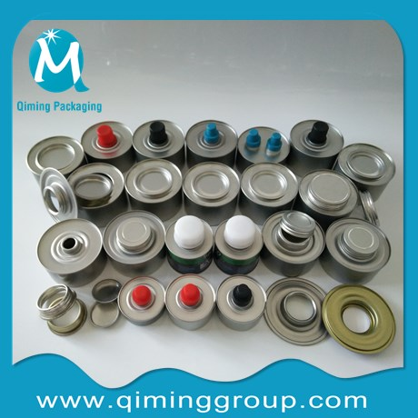 round tin cans with plastic lids