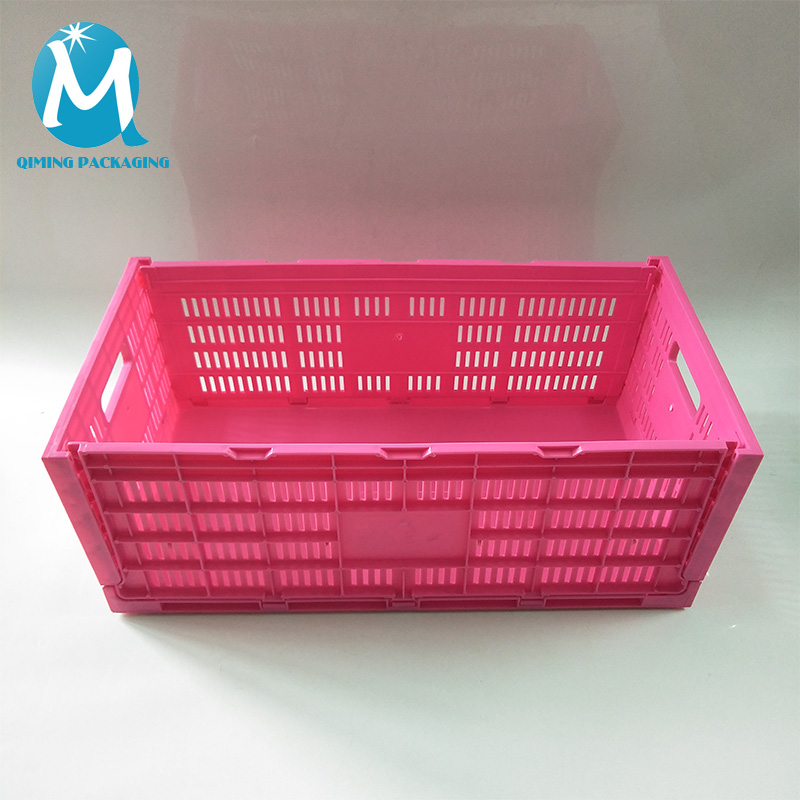 Plastic Folding Crates Transportation Vegetable Fruit Crates
