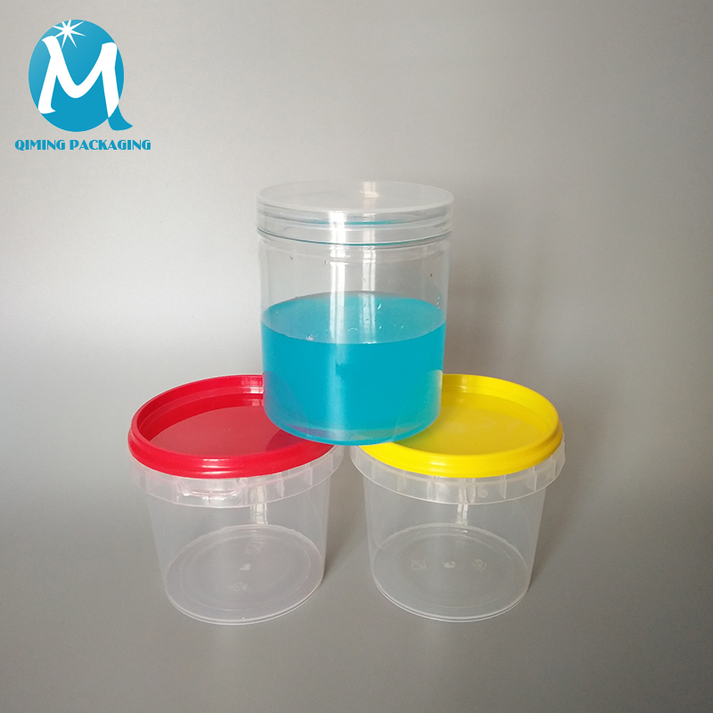 clear small pail round plastic buckets