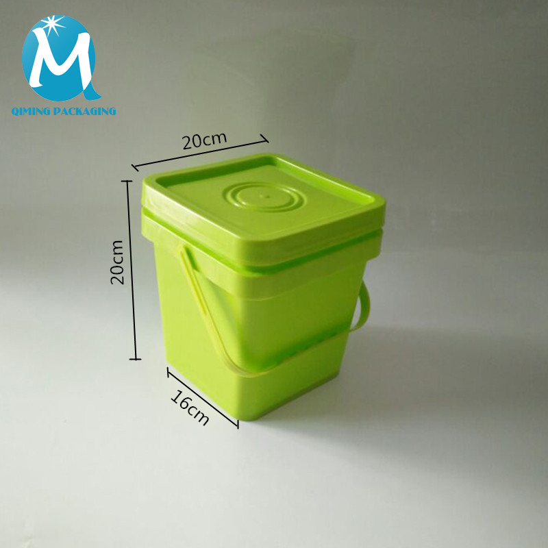 5L square plastic bucket