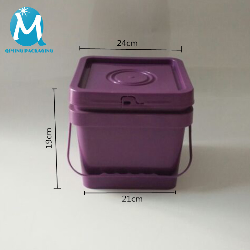 8L square plastic bucket