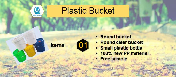 plastic round bucket