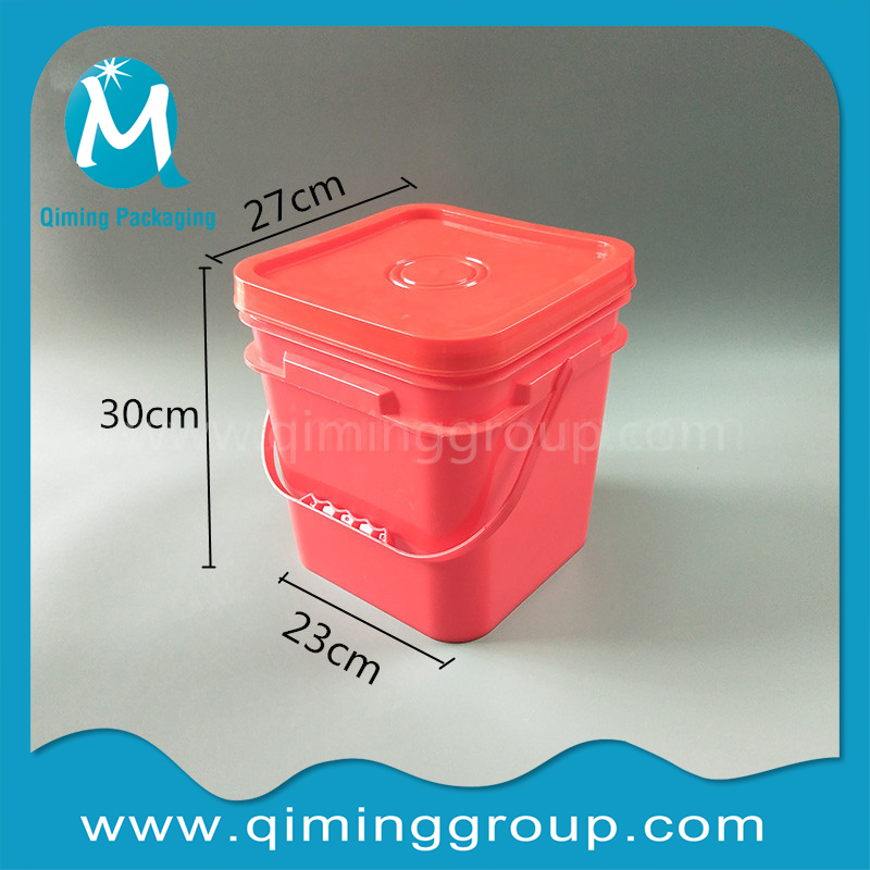 15L square plastic bucket