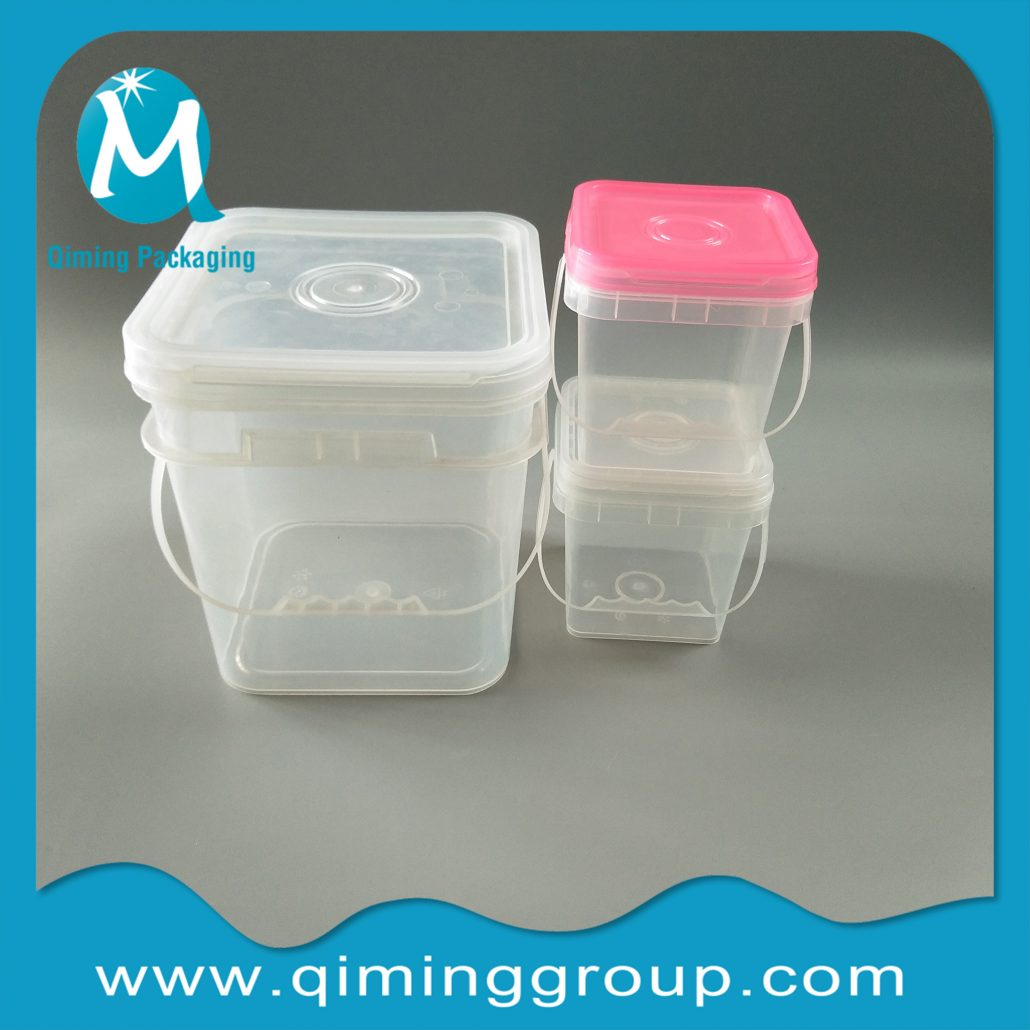plastic square bucket