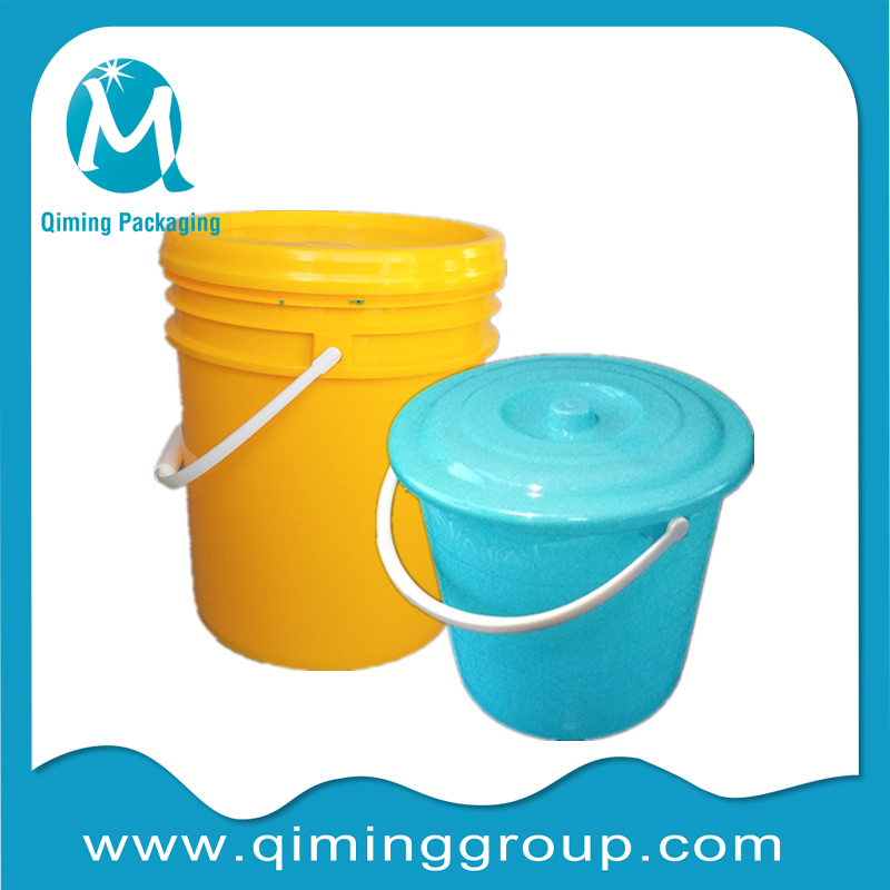Round Plastic Buckets Pails Qiming Packaging Lids Caps