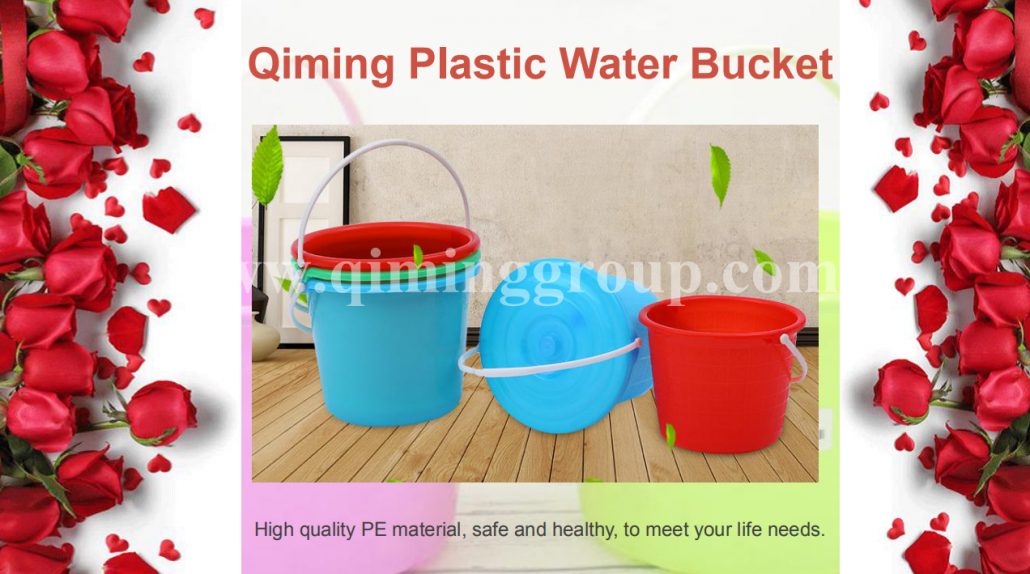 Plastic beach buckets